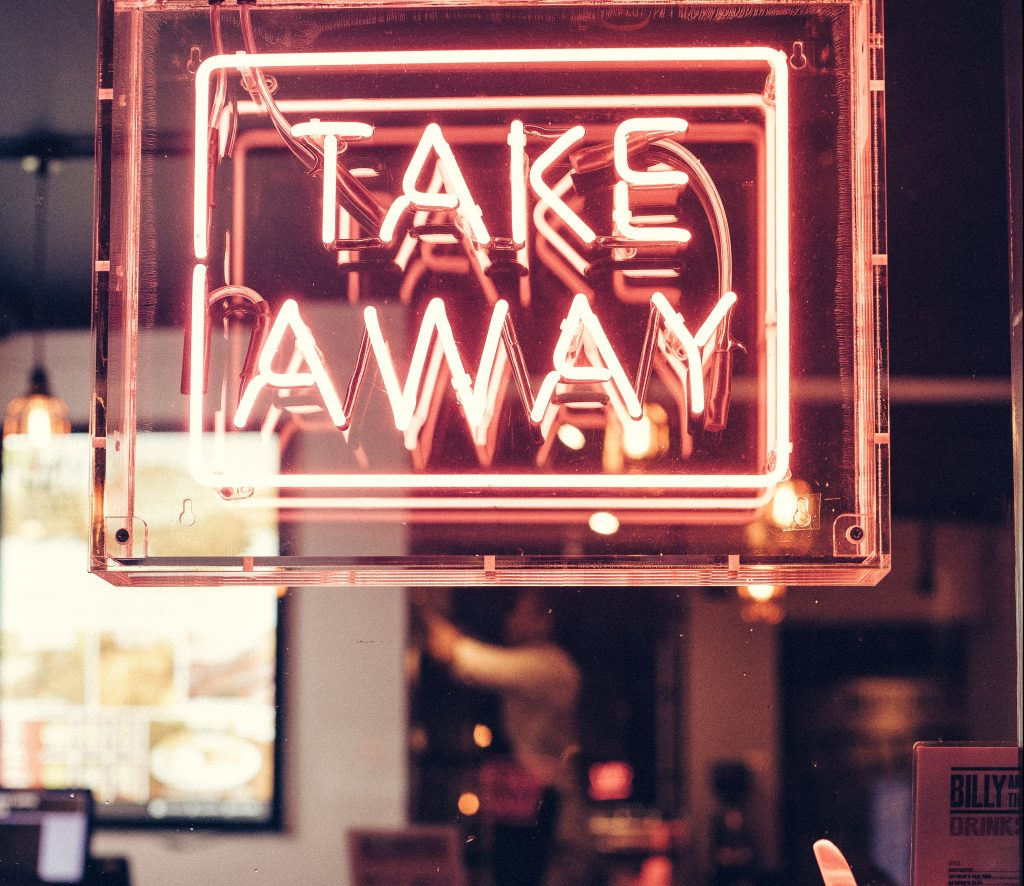 Neon Takeaway Sign