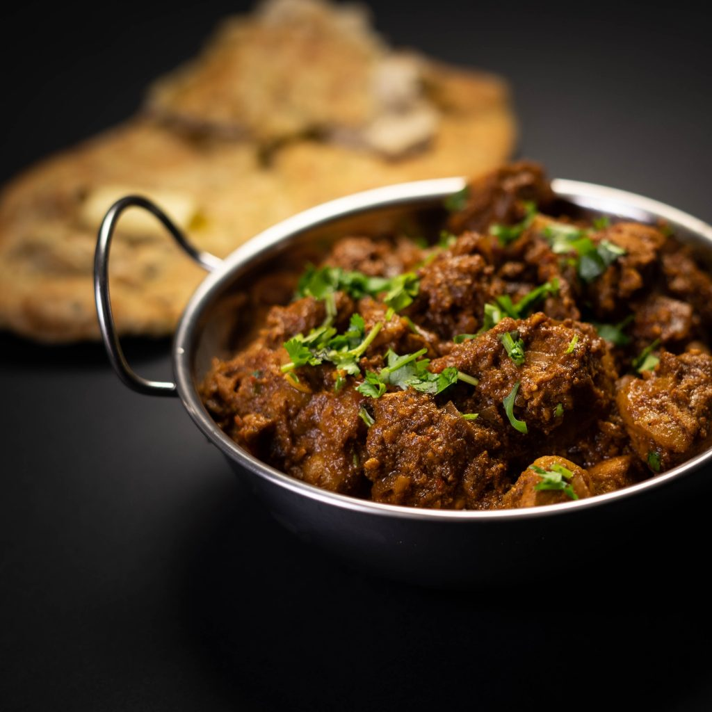 Lamb Curry Bhuna in a dish